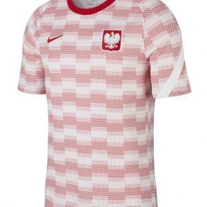 Koszulka przedmeczowa Nike Polska CV0557-100 Rozmiar XS (168cm)