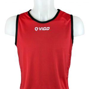 Kamizelka znacznik piłkarski pełny Vigo Junior Czerwony Rozmiar 146