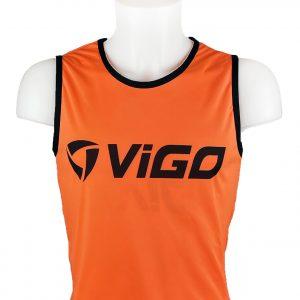 Kamizelka znacznik piłkarski pełny Vigo Junior Pomarańczowy Rozmiar 146