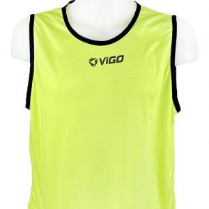Kamizelka znacznik piłkarski pełny Vigo Junior Seledynowy Rozmiar 140