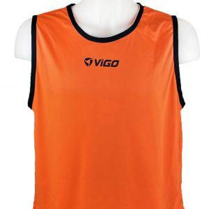 Kamizelka znacznik piłkarski pełny Vigo Pomarańczowy Rozmiar M (178cm)