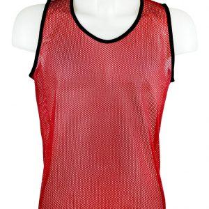 Kamizelka znacznik piłkarski siateczkowy Diparo Czerwony Rozmiar M (178cm)