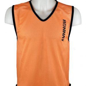 Kamizelka znacznik piłkarski siateczkowy Diparo Pomarańczowy Rozmiar M (178cm)