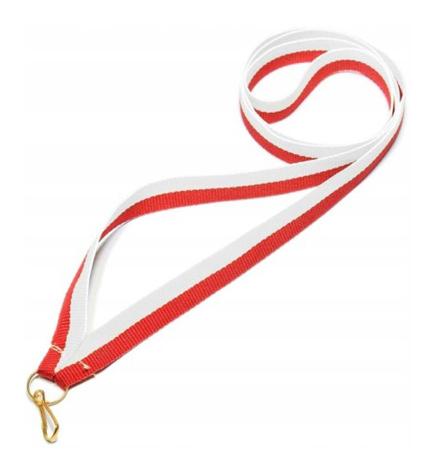 Wstążka wąska biało-czerwona