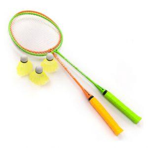 Zestaw do badmintona Meteor stalowy 2 rakietki + 3 lotki 20050