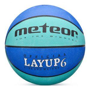 Piłka do koszykówki Meteor Layup niebieska 07087 Rozmiar 6