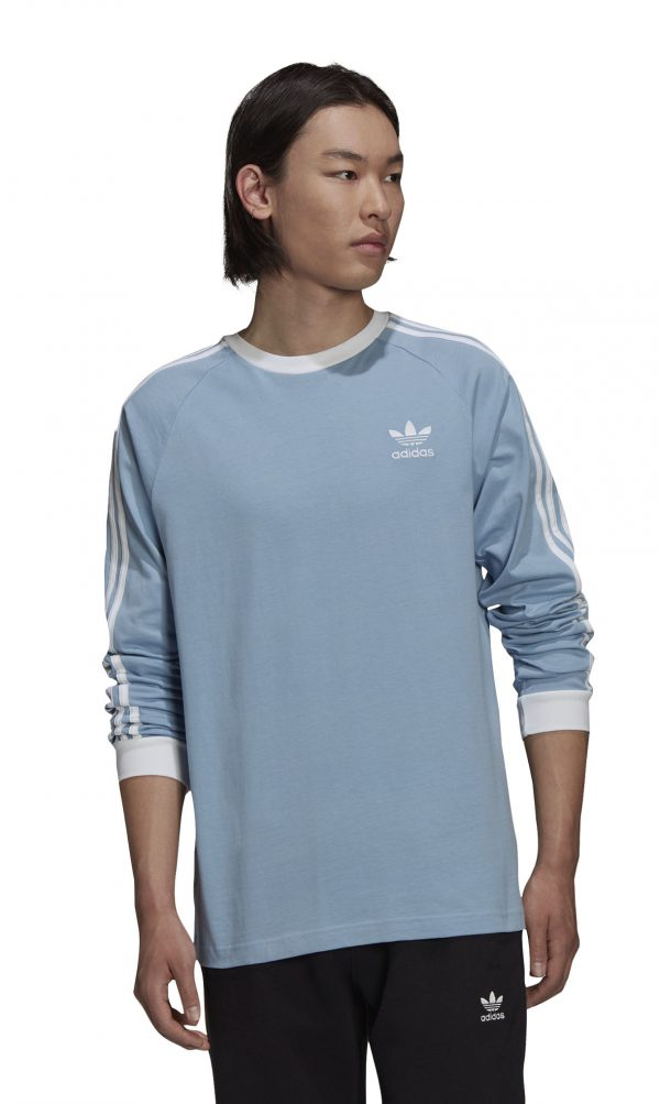Koszulka z długim rękawem adidas 3-stripes H37777 Rozmiar S (173cm)