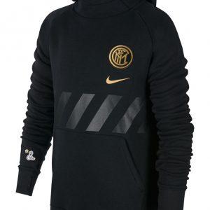 Bluza z kapturem Nike Junior Inter Mediolan AT4496-010 Rozmiar XS (122-128cm)