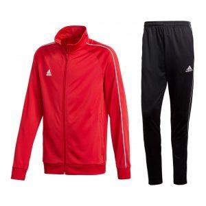 Dres adidas Core 18 Czerwono-Czarny CV3565/CE9036 Rozmiar S (173cm)