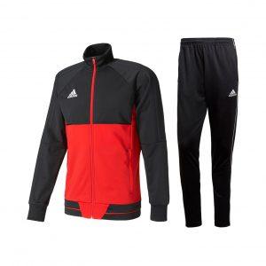Dres adidas Tiro/Core Czerwono-Czarny BQ2596/CE9036 Rozmiar S (173cm)
