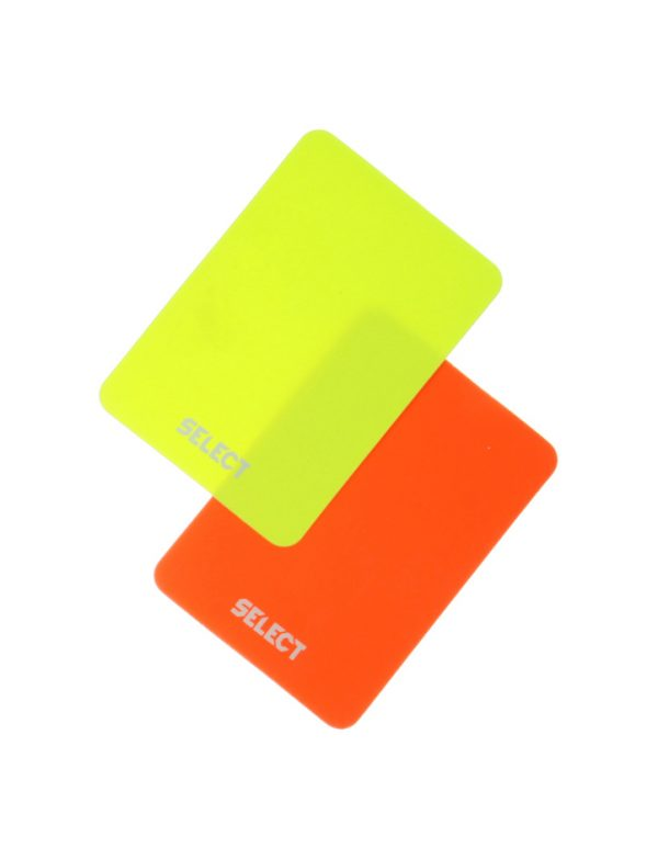 Kartki sędziowskie Select 2 sztuki czerwona+żółta