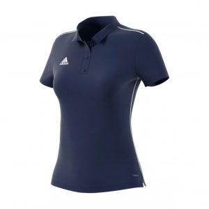 Koszulka Polo damska adidas Core 18 CV3678 Rozmiar XS (158cm)