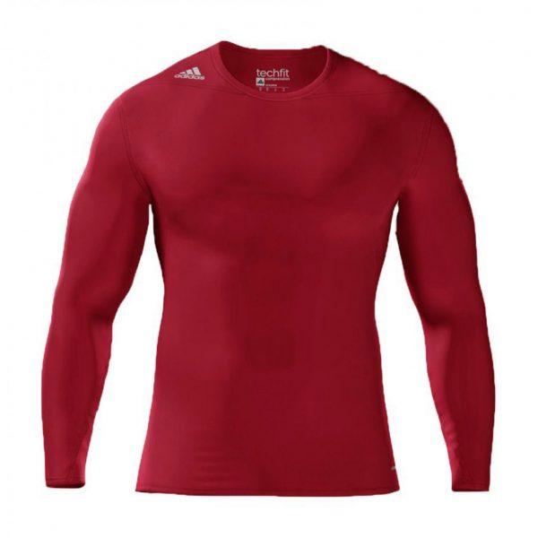 Koszulka z długim rękawem adidas Techfit Compression Czerwona S27176 Rozmiar L (183cm)