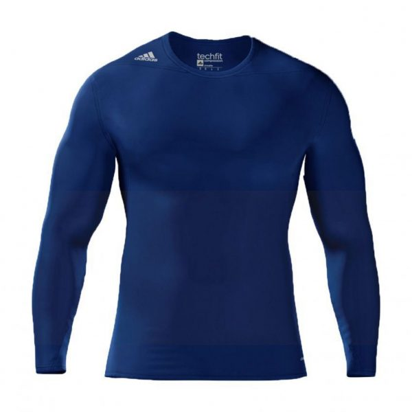 Koszulka z długim rękawem adidas Techfit Compression Niebieska S27176 Rozmiar M (178cm)