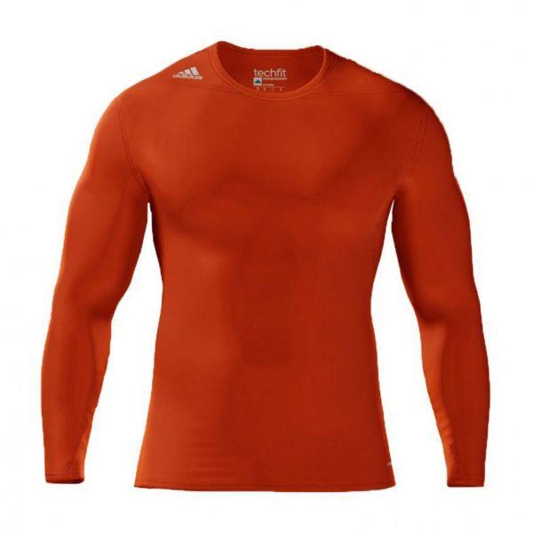 Koszulka z długim rękawem adidas Techfit Compression Pomarańczowa S27176 Rozmiar S (173cm)