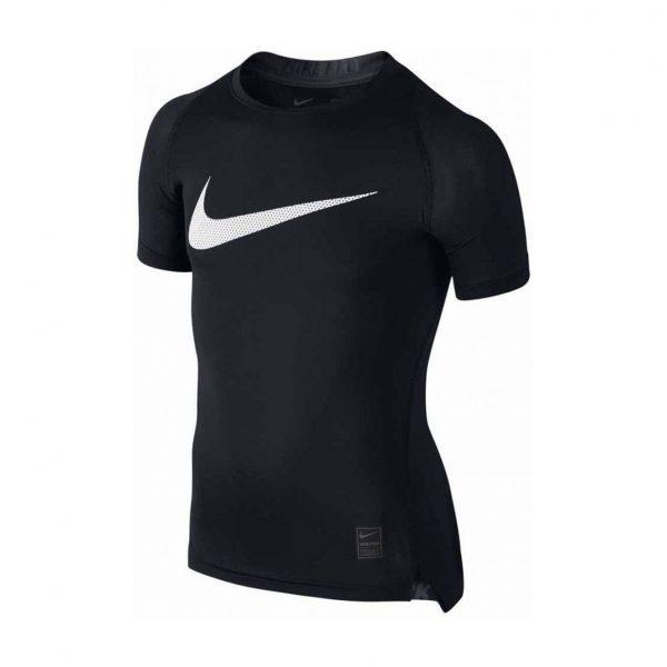 Koszulka z krótkim rękawem Nike Junior Pro Cool Compression 726462-010 Rozmiar S (128-137cm)