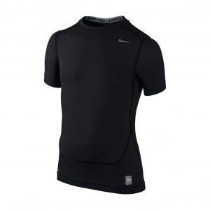 Koszulka z krótkim rękawem Nike Junior Pro Core Compression 522801-010 Rozmiar S (128-137cm)