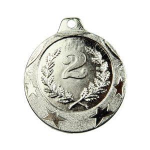 Medal drugie miejsce 40mm srebrny MED9