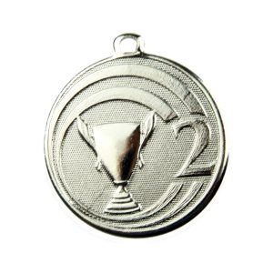 Medal drugie miejsce 45mm srebrny ME.088