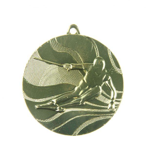 Medal tematyczny narty 50mm złoty MMC4950