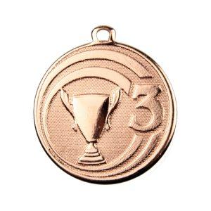 Medal trzecie miejsce 45mm brązowy ME.088