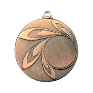 Medal z miejscem na wklejkę 50mm brązowy MMC9850