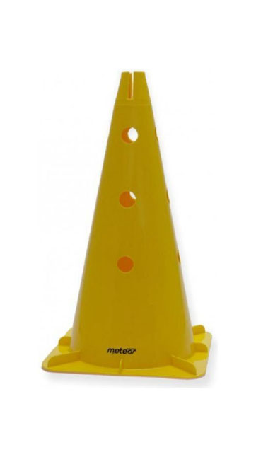 Pachołek Meteor 46cm z otworami żółty 29209