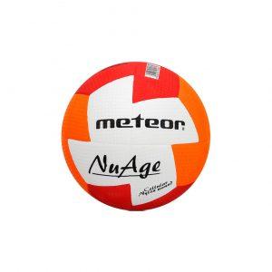 Piłka ręczna Meteor Nuage Junior r 1  czerwono-pomarańczowa