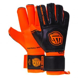 Rękawice Football Masters Junior Classic Black Orange Aqua Grip RF v 3.0 Rozmiar 4