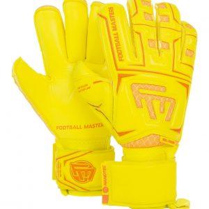 Rękawice Football Masters Junior Clima Yellow Contact Grip RF v 3.0 Rozmiar 6