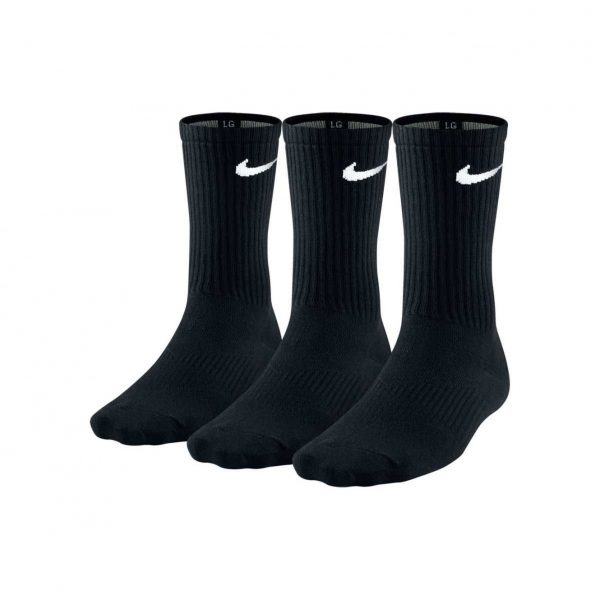 Skarpety bawełniane Nike Lightweight Crew 3-pack SX4704-001 Rozmiar L: 42-46