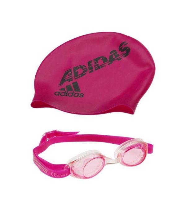 Zestaw adidas czepek + okularki AB6070
