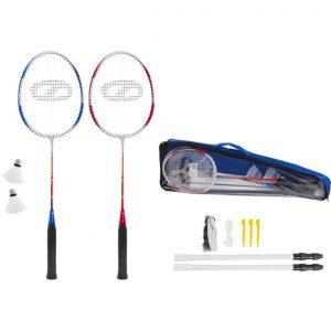 Zestaw do badmintona SMJ rakietki + lotka + siatka 8451F